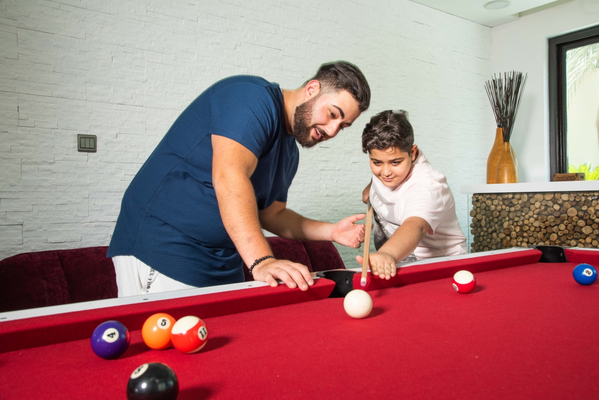 Playing billiards 4