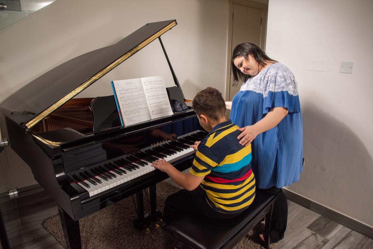 Playing piano 2