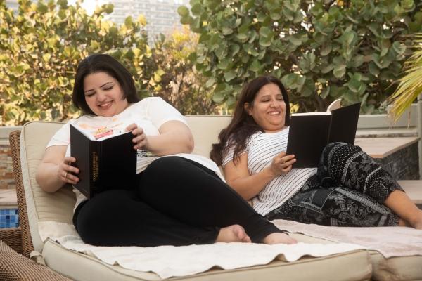 Reading in garden 2