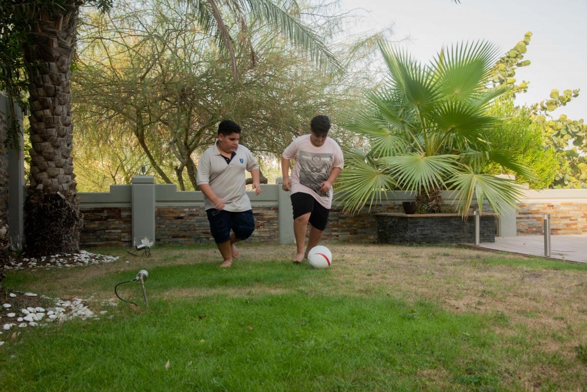 Playing football 3