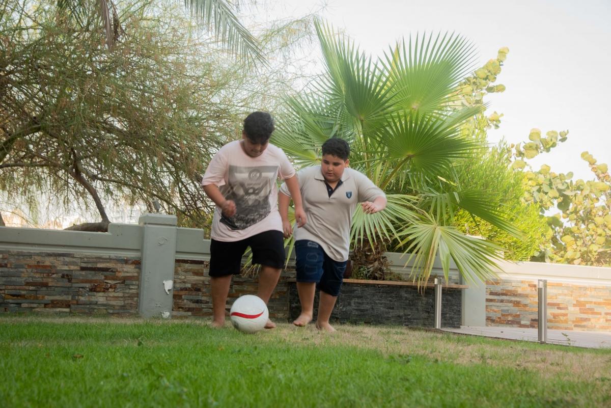 Playing football 2